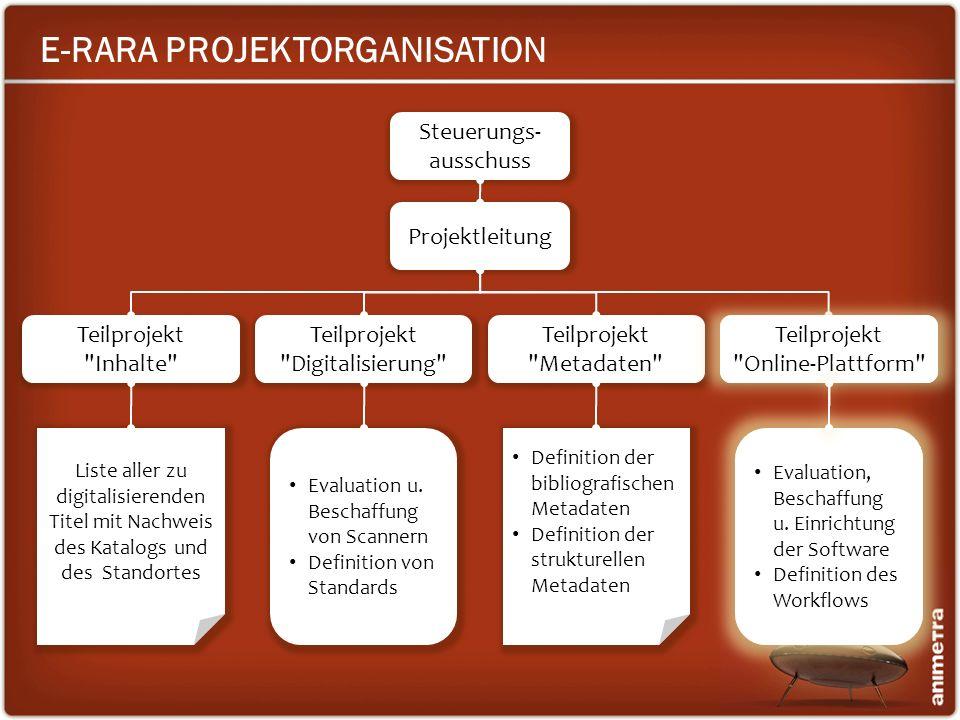 E-RARA PROJEKTORGANISATION