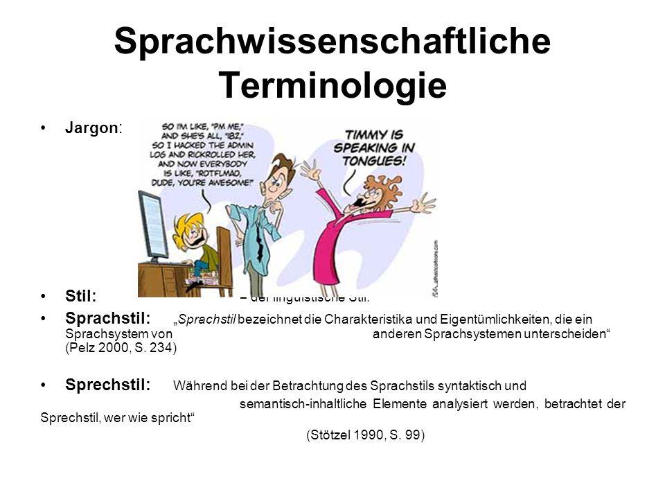 Sprachwissenschaftliche Terminologie