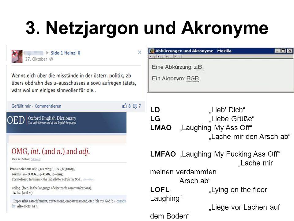 3. Netzjargon und Akronyme