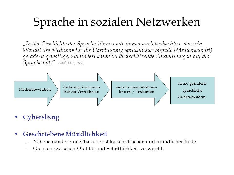 Sprache in sozialen Netzwerken