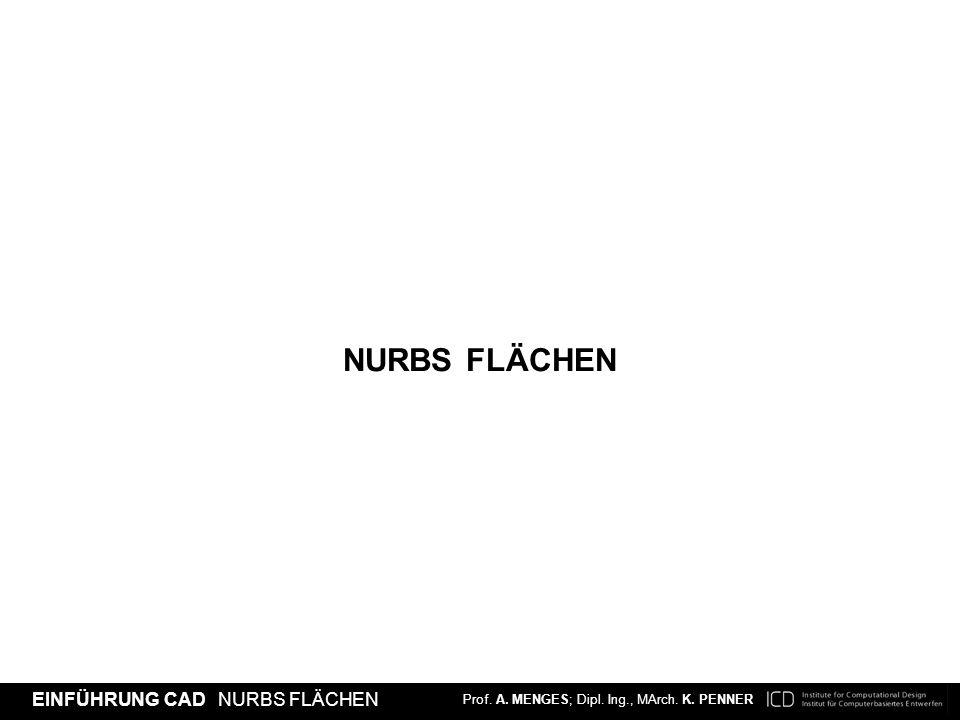 NURBS FLäCHEN Prof. Achim Menges, MArch Katharina Penner