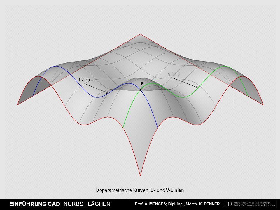 Isoparametrische Kurven, U- und V-Linien