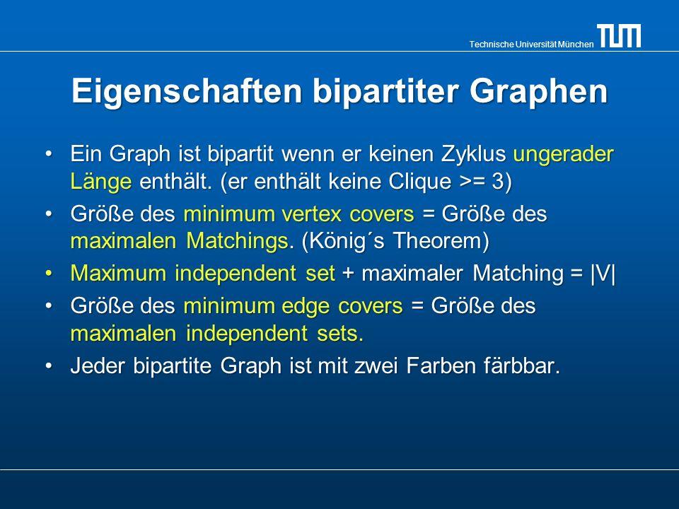 Eigenschaften bipartiter Graphen