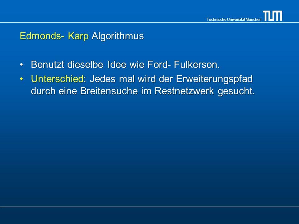 Edmonds- Karp Algorithmus