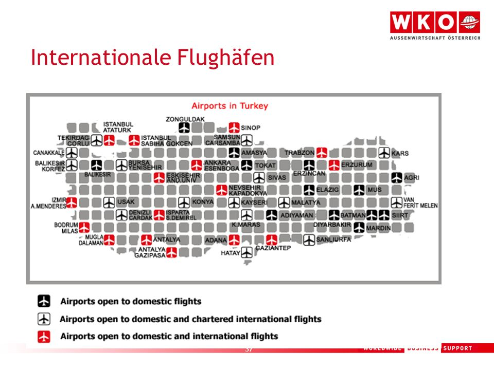 Internationale Flughäfen