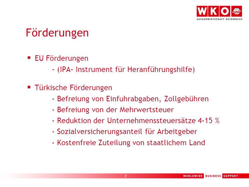 Förderungen EU Förderungen - (IPA- Instrument für Heranführungshilfe)
