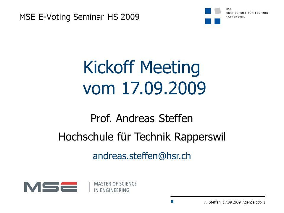 MSE E-Voting Seminar HS 2009