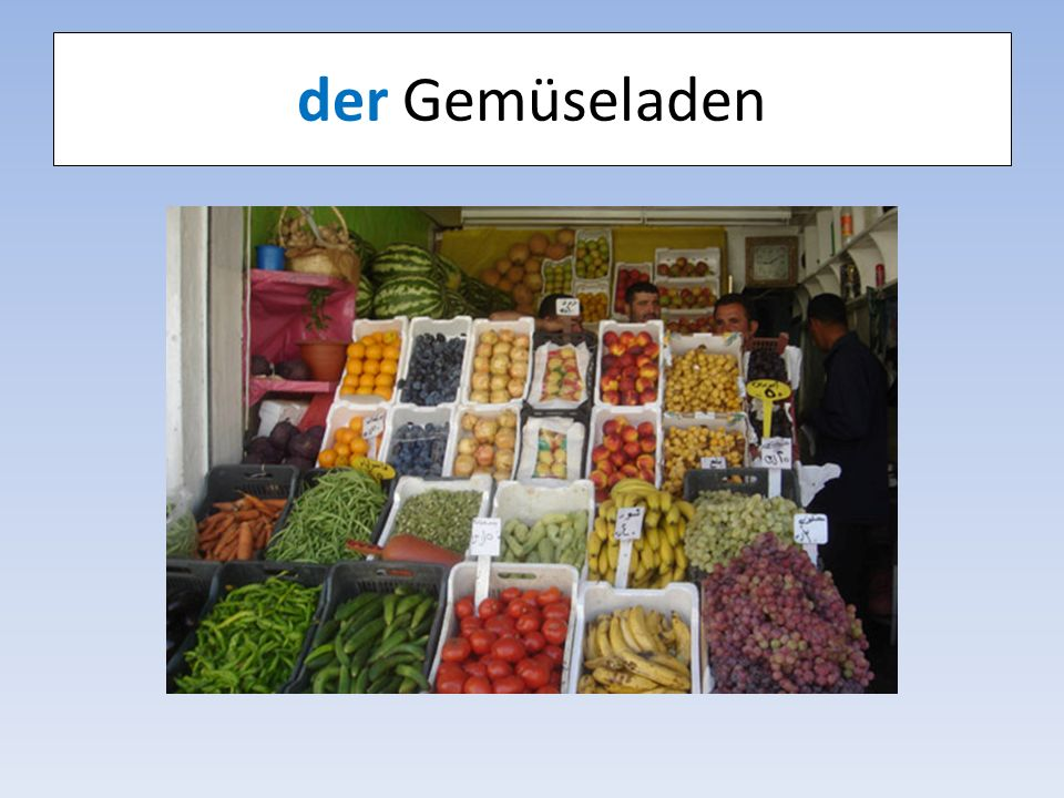 der Gemüseladen