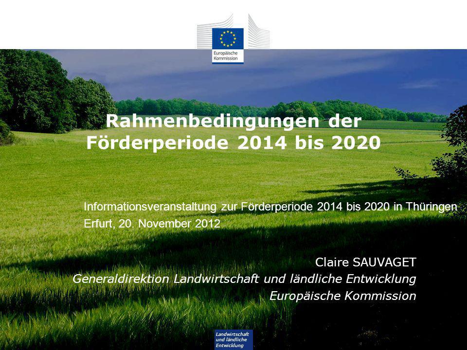 Rahmenbedingungen der Förderperiode 2014 bis 2020