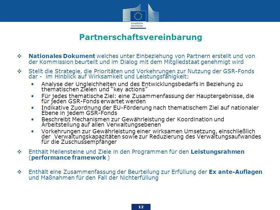 Partnerschaftsvereinbarung