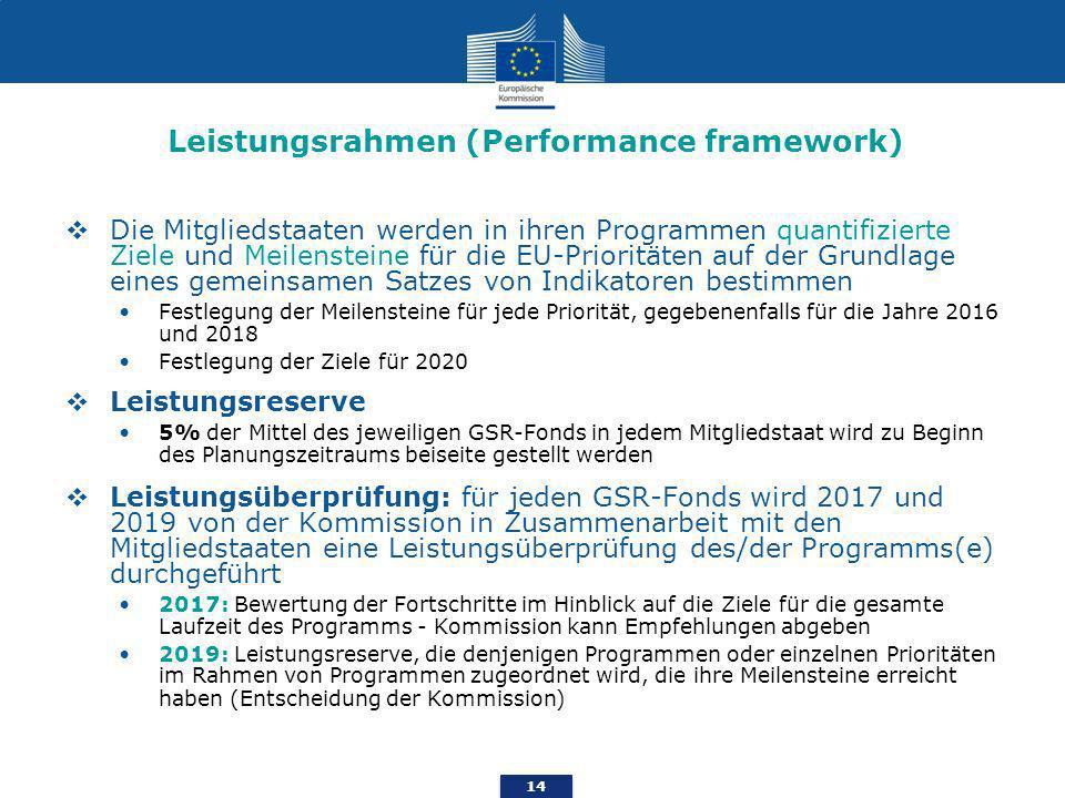 Leistungsrahmen (Performance framework)