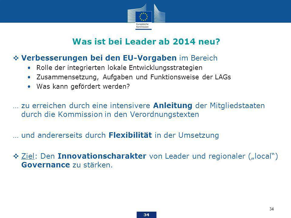 Was ist bei Leader ab 2014 neu