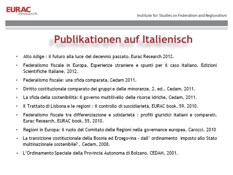 Publikationen auf Italienisch