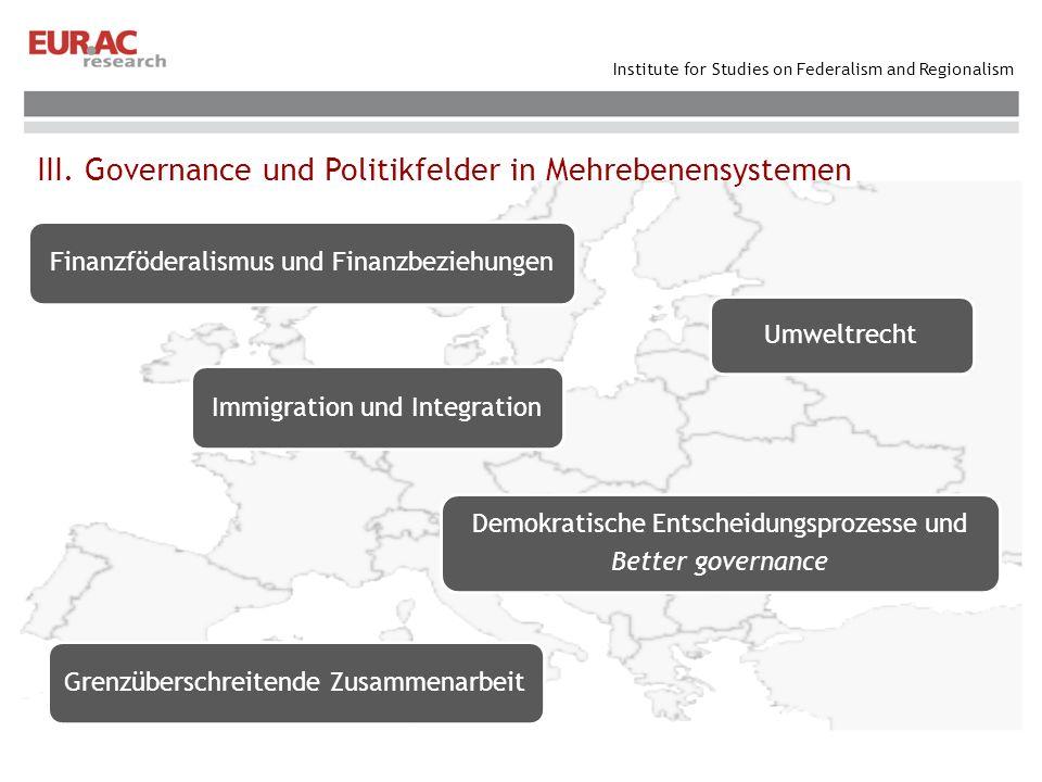 III. Governance und Politikfelder in Mehrebenensystemen