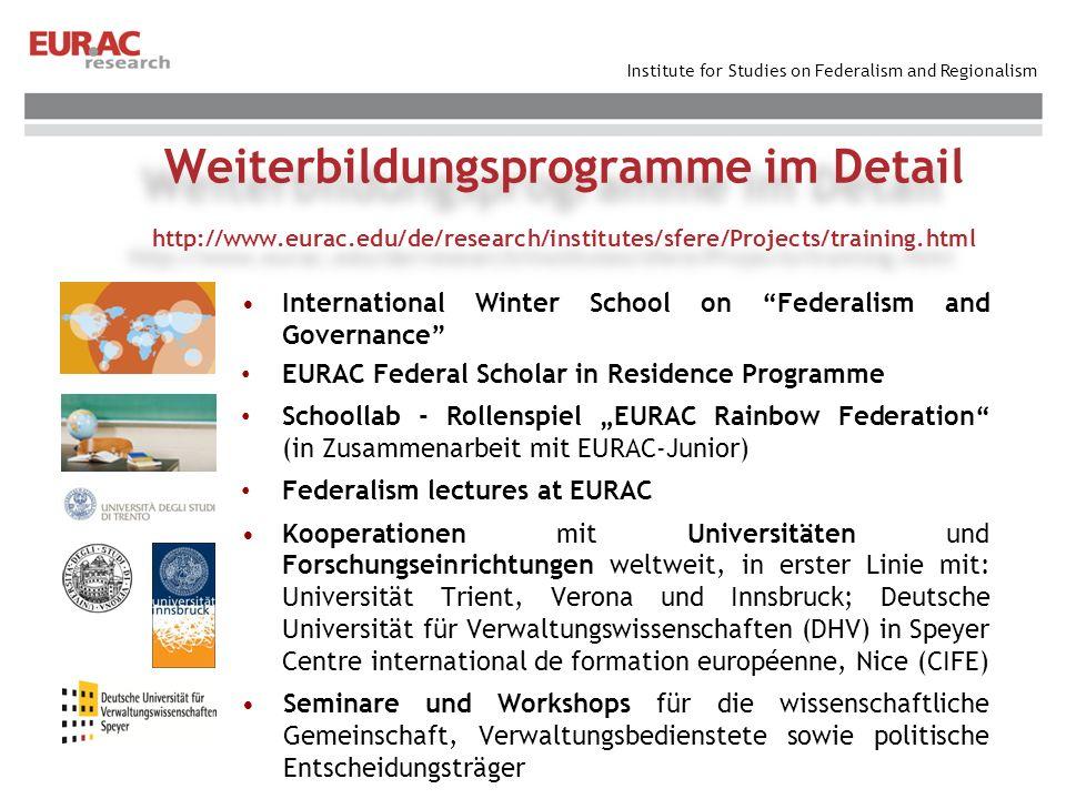 Weiterbildungsprogramme im Detail http://www. eurac
