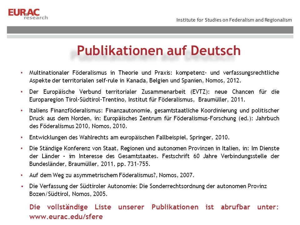 Publikationen auf Deutsch