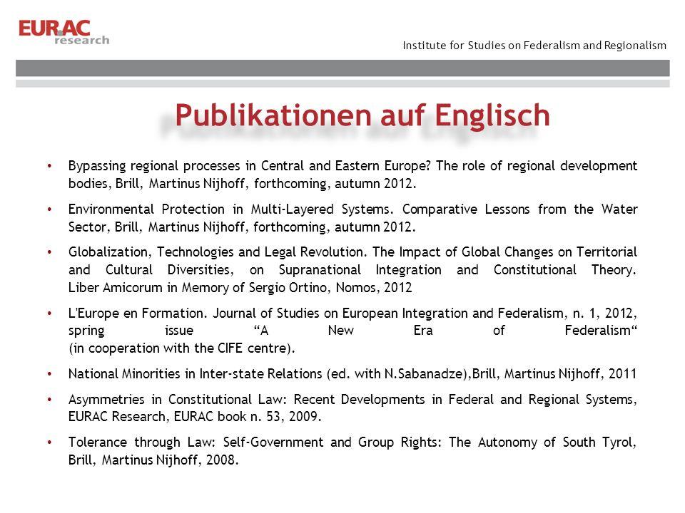 Publikationen auf Englisch