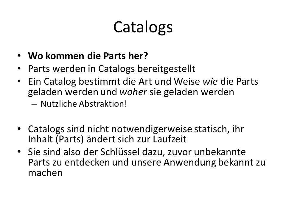 Catalogs Wo kommen die Parts her