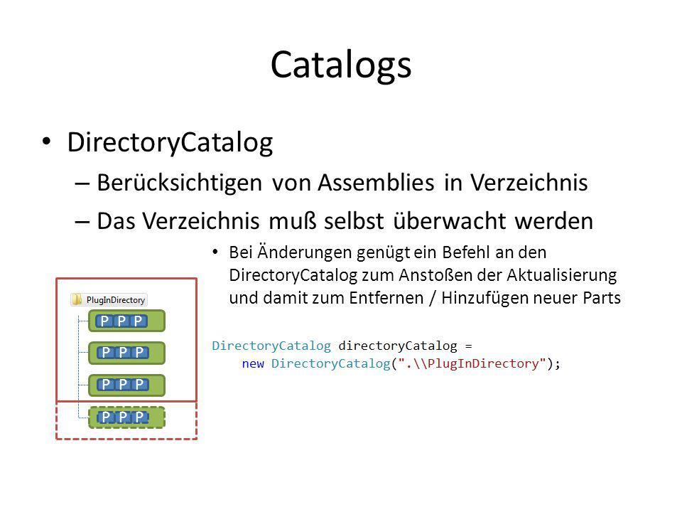 Catalogs DirectoryCatalog