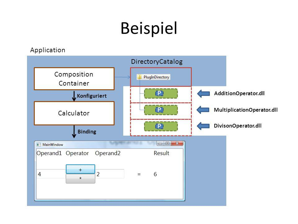 Beispiel Application DirectoryCatalog Composition Container P