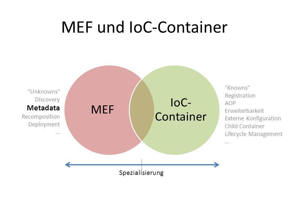 MEF und IoC-Container IoC- Container MEF Metadata Spezialisierung
