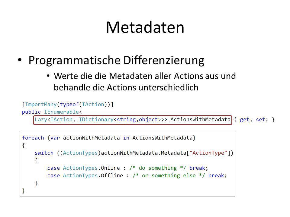 Metadaten Programmatische Differenzierung
