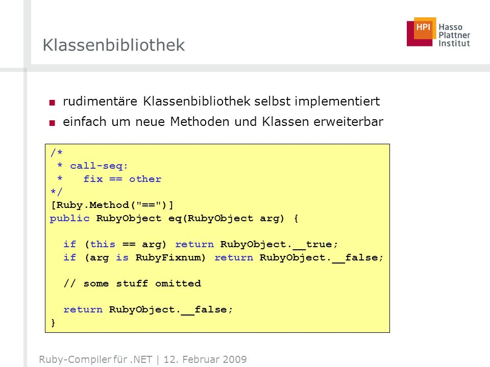 Klassenbibliothek rudimentäre Klassenbibliothek selbst implementiert