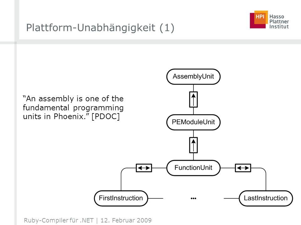 Plattform-Unabhängigkeit (1)
