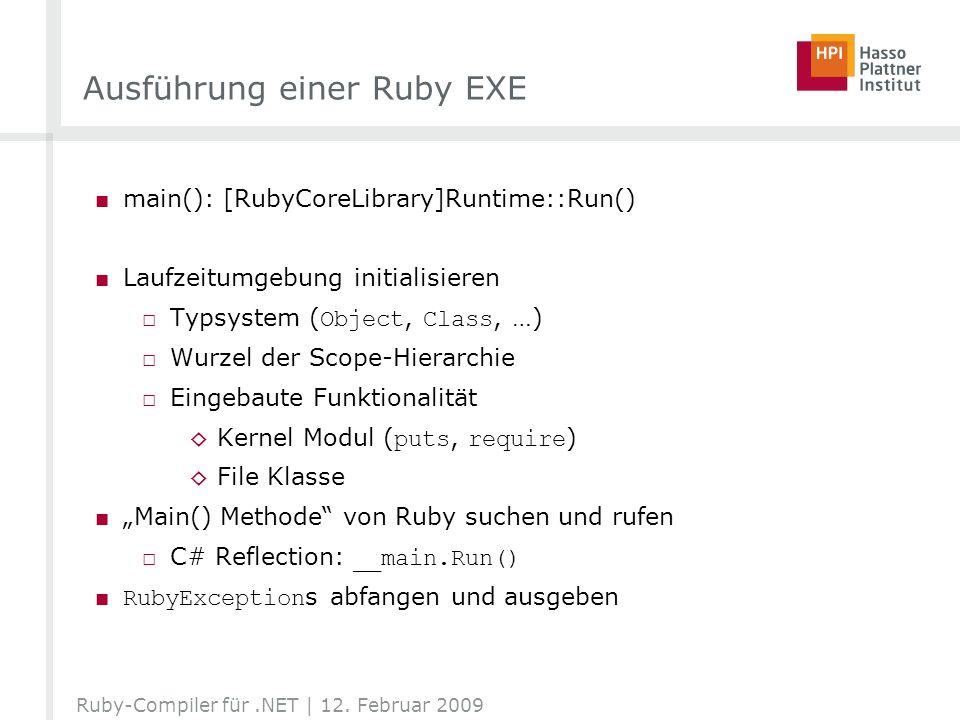 Ausführung einer Ruby EXE