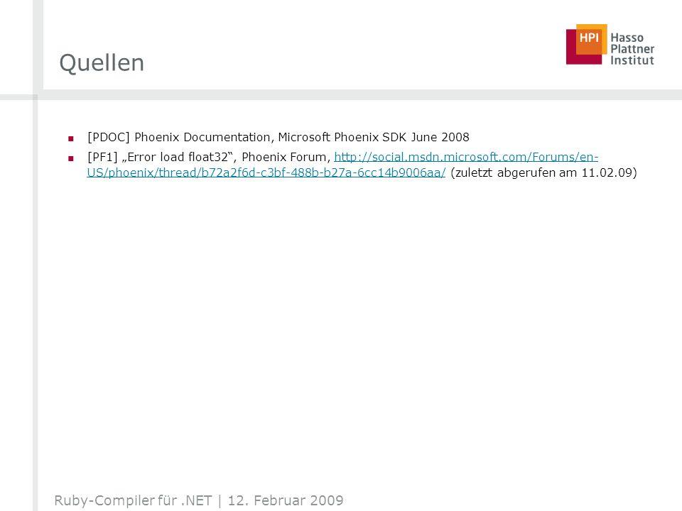 Quellen Ruby-Compiler für .NET | 12. Februar 2009