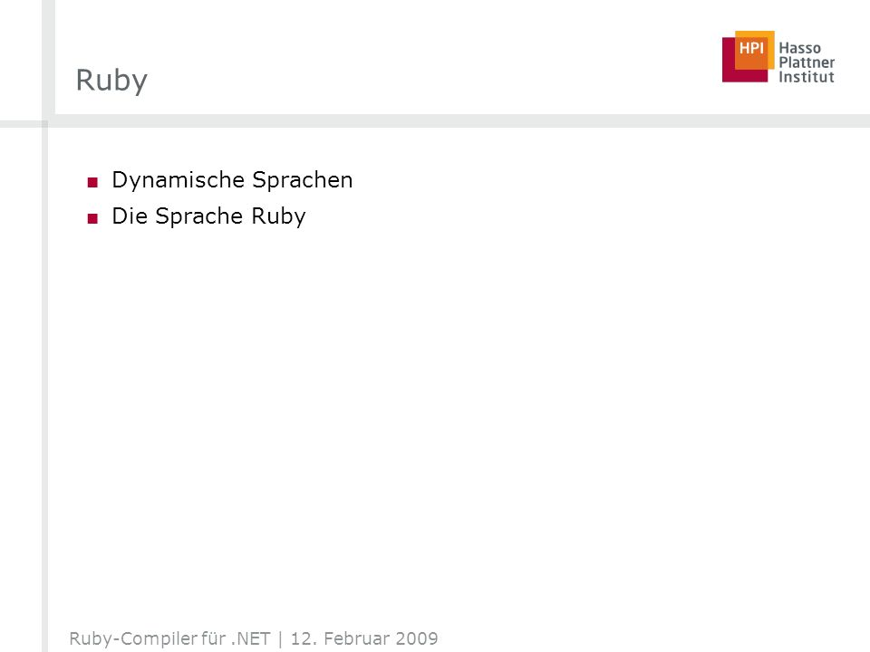 Ruby Dynamische Sprachen Die Sprache Ruby