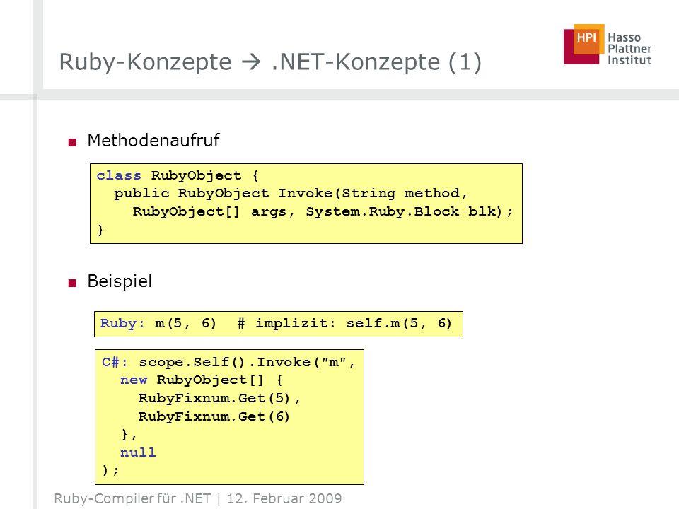Ruby-Konzepte  .NET-Konzepte (1)