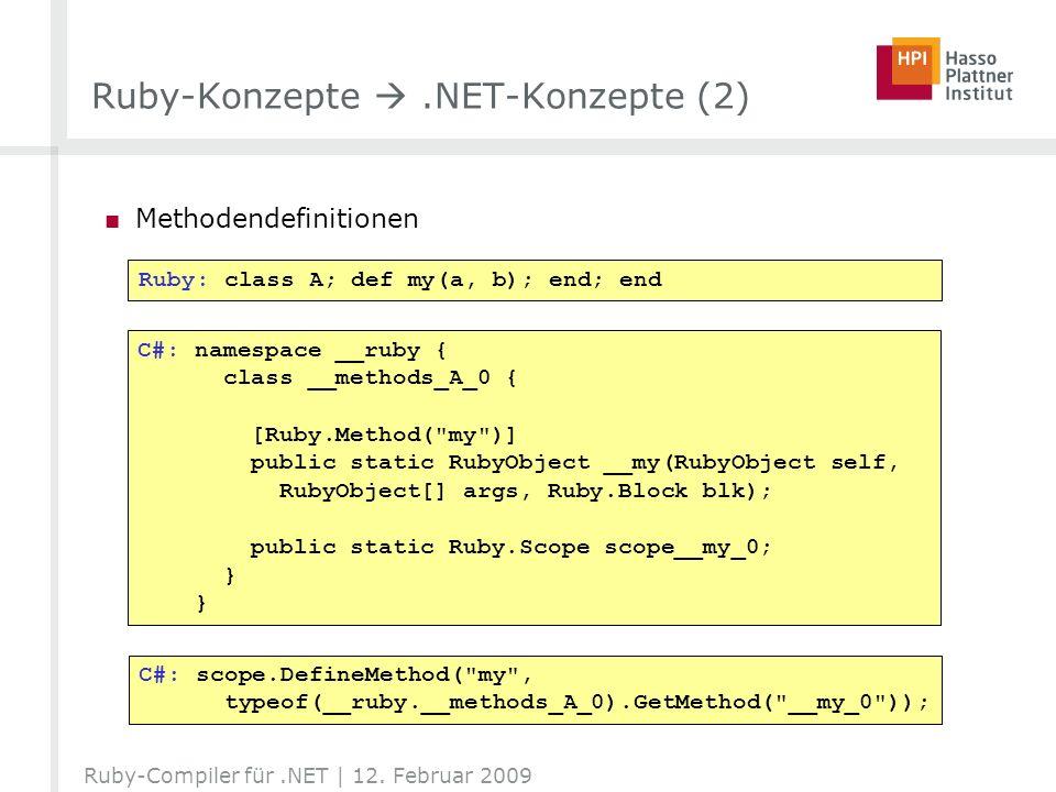 Ruby-Konzepte  .NET-Konzepte (2)