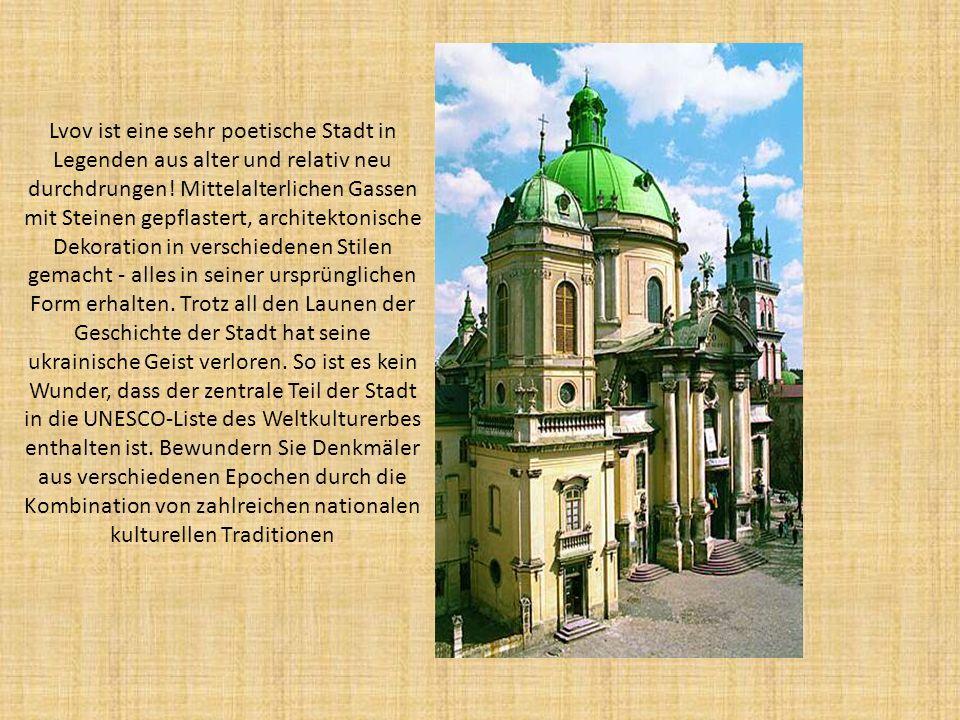 Lvov ist eine sehr poetische Stadt in Legenden aus alter und relativ neu durchdrungen.