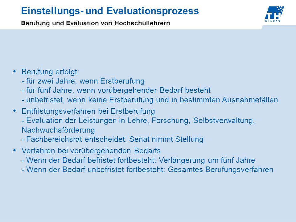 Einstellungs- und Evaluationsprozess