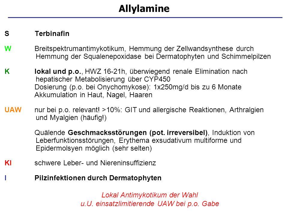Allylamine S Terbinafin