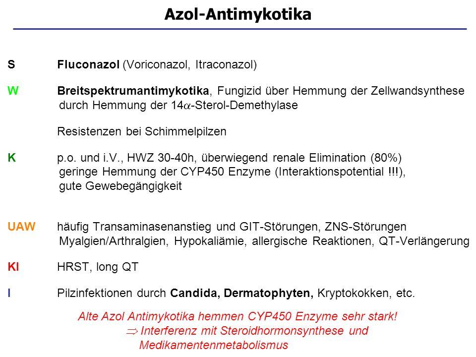 Azol-Antimykotika S Fluconazol (Voriconazol, Itraconazol)