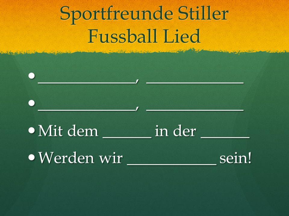 Sportfreunde Stiller Fussball Lied