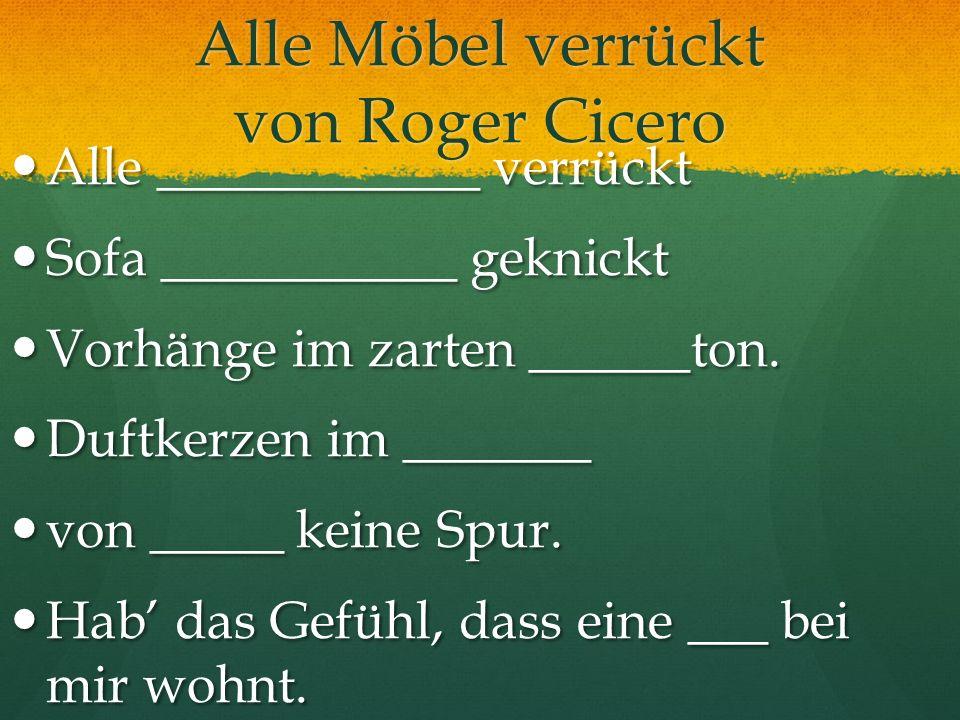 Alle Möbel verrückt von Roger Cicero