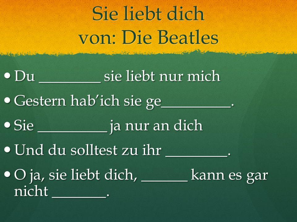 Sie liebt dich von: Die Beatles