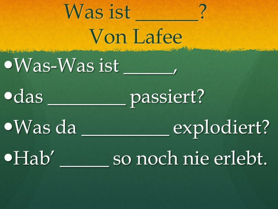 Was ist ______ Von Lafee