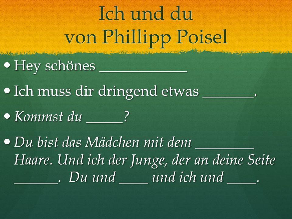 Ich und du von Phillipp Poisel