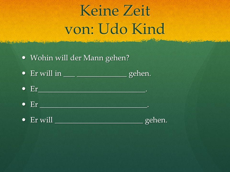 Keine Zeit von: Udo Kind
