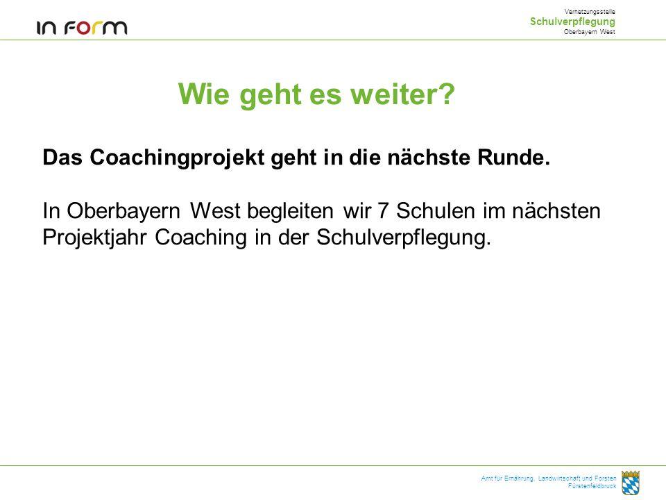 Wie geht es weiter Das Coachingprojekt geht in die nächste Runde.