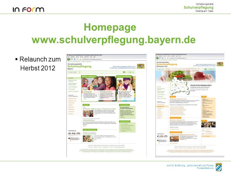 Homepage www.schulverpflegung.bayern.de