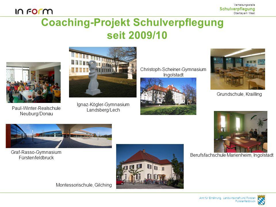 Coaching-Projekt Schulverpflegung seit 2009/10