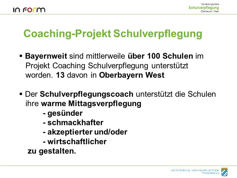 Coaching-Projekt Schulverpflegung