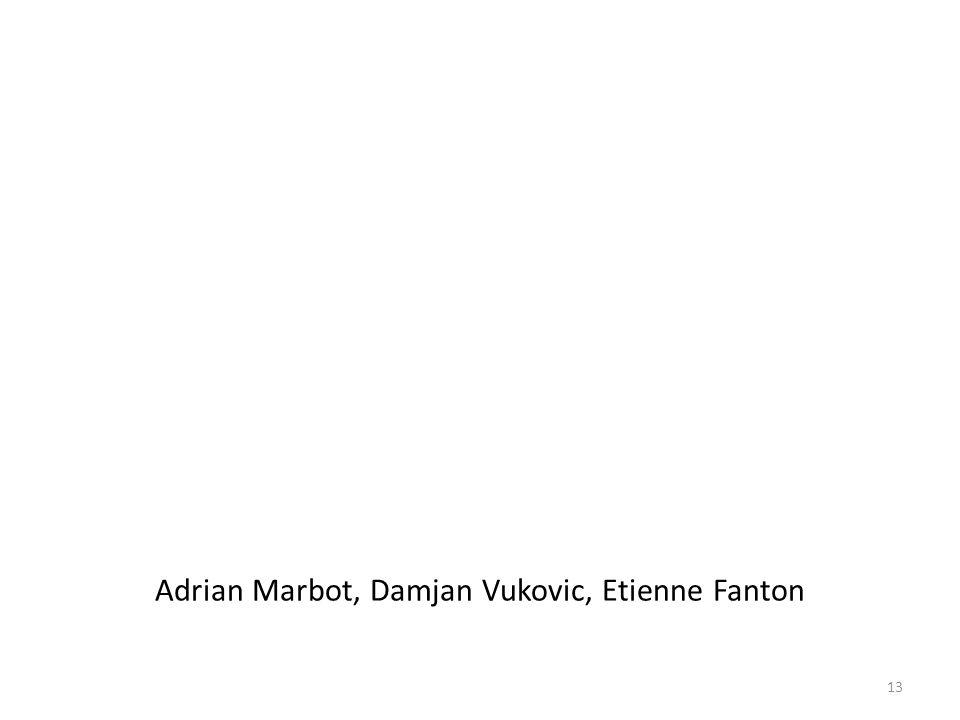 Adrian Marbot, Damjan Vukovic, Etienne Fanton