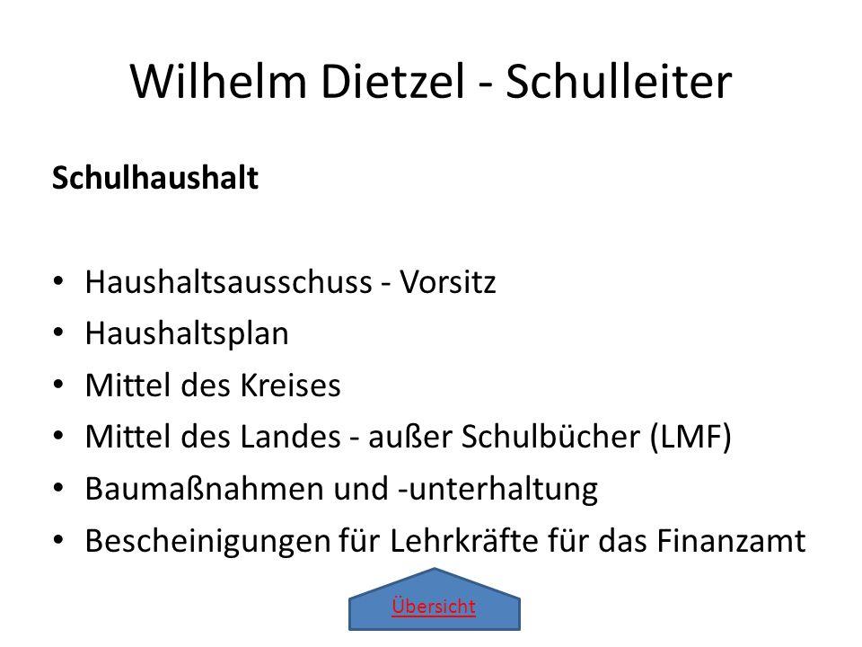 Wilhelm Dietzel - Schulleiter