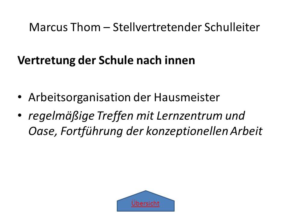 Marcus Thom – Stellvertretender Schulleiter